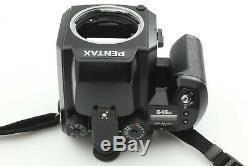 NEAR MINT Pentax 645N + SMC A 75mm f/2.8 + 120 Film Back From Japan E-0413