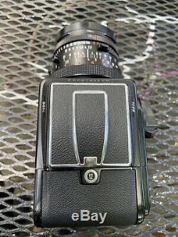 N. MINTHASSELBLAD 501c Camera A12 Film Back View Finder Zeiss 80mm CF Lens