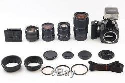 N MINT+3PENTAX 645 Medium Format Camera with45 80-160 150mm Lens /120 Film Back