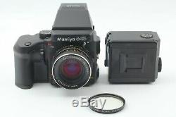 N MINT Mamiya 645 Pro AE Finder Sekor C 80mm F2.8 N 120 Back from Japan 122