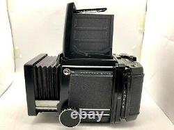 N. MINT Mamiya RB67 Pro + Sekor C 127mm f3.8 + Hood + 120 Film Back From Japan