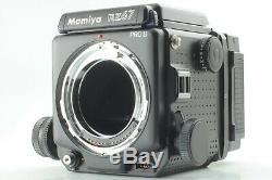 N MINT+++ Mamiya RZ67 Pro II Body with 120, 645 Film Backs, L Grip from JAPAN