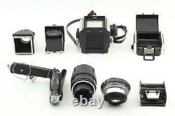 N MINT++ Zenza Bronica S2A + Nikkor P 75mm 150mm Chimney loupe 6x6 Back Japan