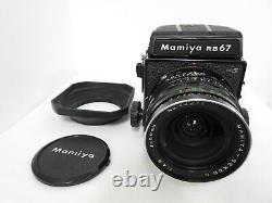 N MINT with Hood Mamiya RB67 PRO S + Sekor 50mm F/4.5 Lens 120 Film Back Japan