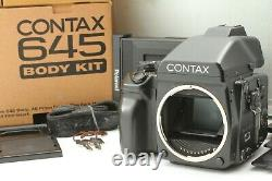 N, Mint/Box Contax 645 Medium Format Body /Polaroid film back From JAPAN # 829