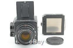 Near MINT Hasselblad 500CM Black + C Planar 80mm & A12 II Film back JAPAN376