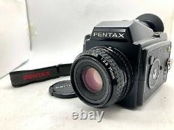 Near MINT PENTAX 645 Film Camera + SMC A 75mm f2.8 +120 Film Back from Japan