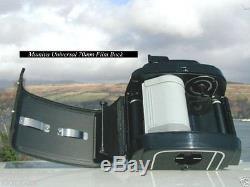New In Box Mamiya Universal 70mm Film Back & Matching Suction Bulb Set