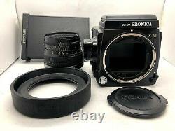 Nr MINT Bronica GS-1 + Waist Level Finder + PG 100mm F3.5 Lens 120 Back JAPAN