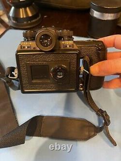 Pentax 645N II Medium Format SLR Film Camera, 45mm Lens, And Two 120 Film Backs