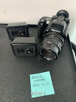 Pentax 645N With 3 Film Backs And 90mm Lens