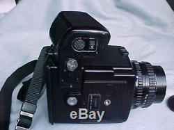Pentax 645 Medium Format camera, SMC A 75/2.8 lens-120/220 Film back-Neck strap