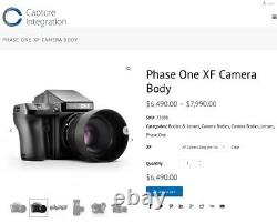Phase One XF Body Slightly used for IQ back systems, back up body