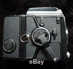 RARE COMPLETE BUNDLE EXC ++++ Bronica SQ-A with 4 Lenses + (2) 120 Film Backs