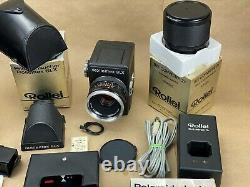 Rolleiflex SLX Camera Outfit with 80mm Planar, Prism, 2x converter, polaroid back+