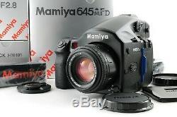 UNUSED TOP MINT MAMIYA 645 AFD + AF 80mm f/2.8 + 120 Film Back from Japan