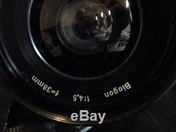 VINTAGE HASSELBLAD SWC 1970 Carl Zeiss Biogon Lens f/4.5 38mm 1969 film back