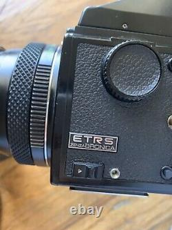 Zenza Bronica ETRS 75mm Lens f2.8 with 120 Film Back, Film Advance Handle + Extras