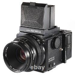 Zenza Bronica ETRS with Zenzanon EII 75mm f2.8 WLF 120 Film Back 135 Screen
