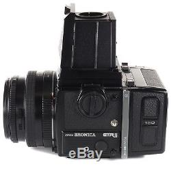 Zenza Bronica ETRSi with Zenzanon PE 75mm + Waist Level Finder + 120 Back +Crank