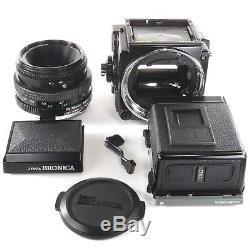 Zenza Bronica ETRSi with Zenzanon PE 75mm + Waist Llevel Finder + 120 Back+Crank