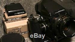Zenza Bronica SQ-A 120 Medium Format Film Camera 6x6 135N back 50mm 80mm 150mm